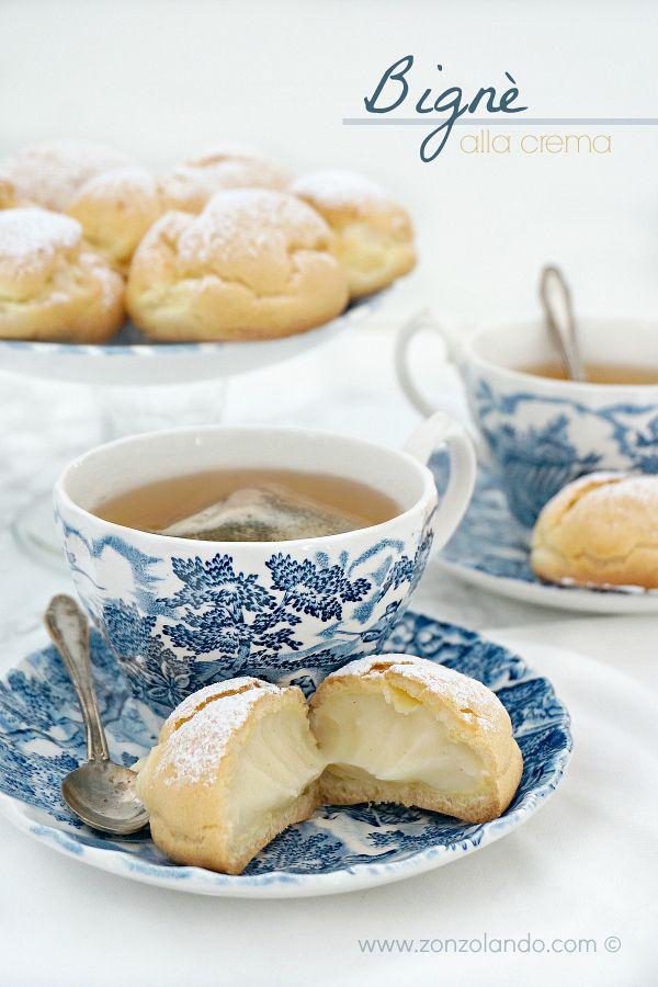 Ricetta per preparare bignè ripieni alla crema pasticcera perfetti - perfect custard cream puffs recipe