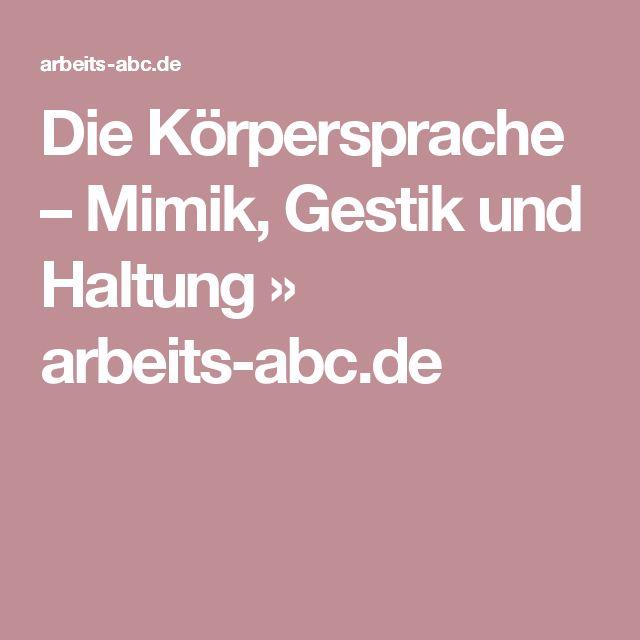 Die Körpersprache – Mimik, Gestik und Haltung » arbeits-abc.de