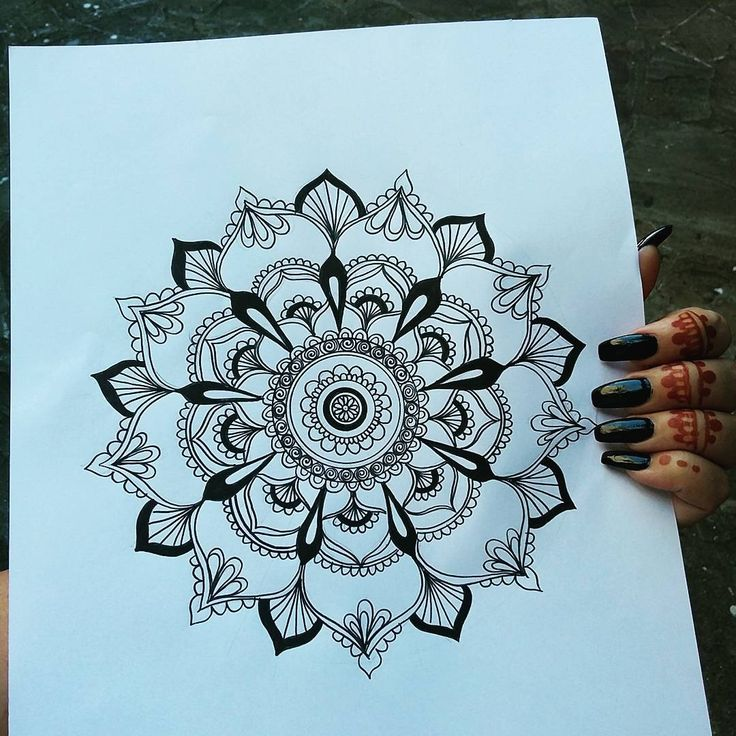 """""""Easy Mandala Design. You can click on the link on my profile to see the videos and all the elements I used. ENJOY!! #mandala #mandalaart…"""""""