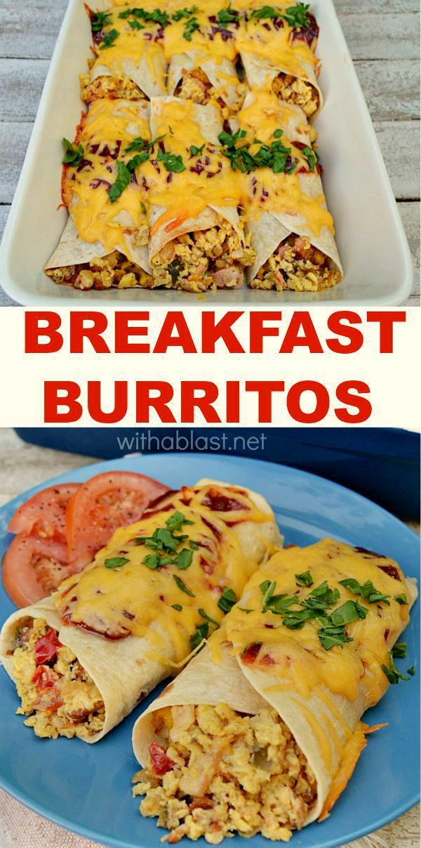 Breakfast Burritos for a Crowd Posted by holmfamilycookbook on July 9, at AM Several years ago I would occasionally make breakfast burritos for a group of people that I supervised and I served the burritos at our Wednesday morning meeting.