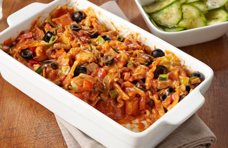Vegetarische lasagne met courgette en brie