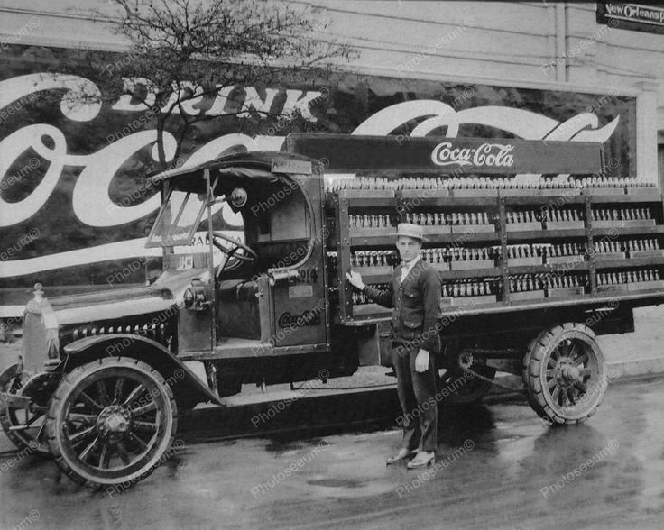 Coca Cola Soda New Orleans Company Truck Drink Coca Cola 8x10 Reprint Old Photo