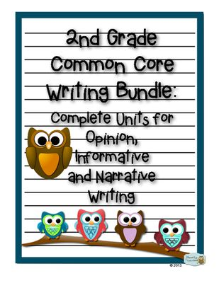 2nd Grade Common Core Writing Bundle: Opinion, Informative and Narrative Writing from Primarily Teaching on TeachersNotebook.com (40 pages)  - These three units comprise a year's worth of Common Core Writing for 2nd grade! 2nd grade teachers and homeschoolers, this is all you need!