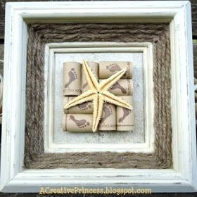 creative framing with scrapbook paper