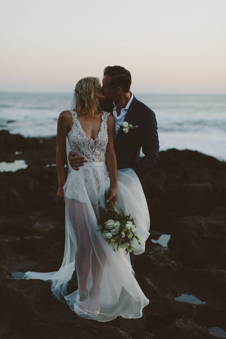 gorgeous two-piece wedding dress by Helen English