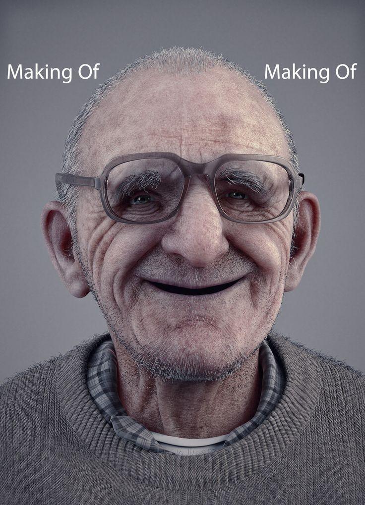 Smile at all ages - Making Of, Reza Abedi on ArtStation at https://www.artstation.com/artwork/NaAQP