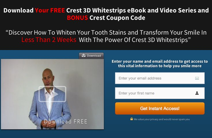 Sign up and smile + BONUS Video on how to keep your teeth healthier for longer, if your really good http://www.crestwhitestrips.co.uk/crest-blog/crest-whitening-strips-product-suite/