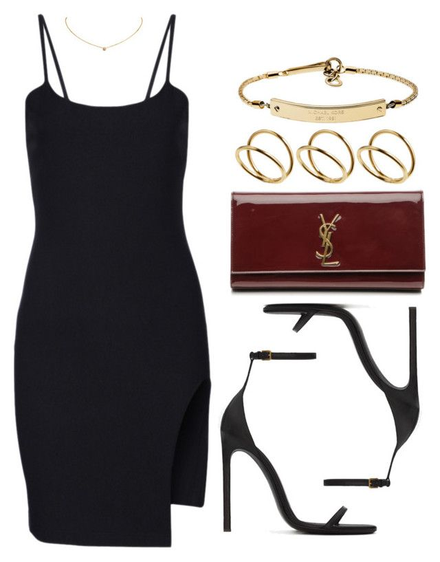 """""""Party"""" by vany-alvarado ❤ liked on Polyvore featuring Yves Saint Laurent, Cartier, MICHAEL Michael Kors and ASOS"""