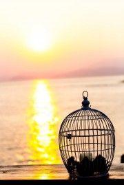 Magical sunset in Hydra. Ideal venue for a beautiful beach wedding in Greece. Hydra Weddings.