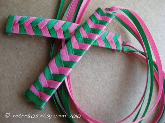 Braided Ribbon Barrettes, made tons of this as a littel girl so we will be making some at Cara's birthday party for goodies/craft.