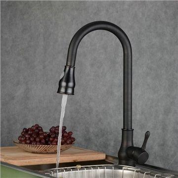 EU Lager)Küchenarmatur Ausziehbare Handbrause Antik Schwarz Pinterest - armatur küche ausziehbar