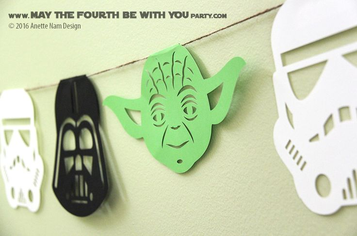 DIY Star Wars Party Garland