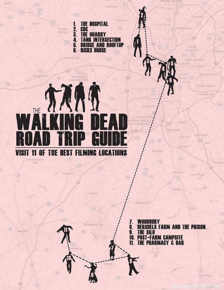 Walking Dead Road Trip Guide (Self-Guided Tour of 11 Walking Dead Locations in Atlanta).