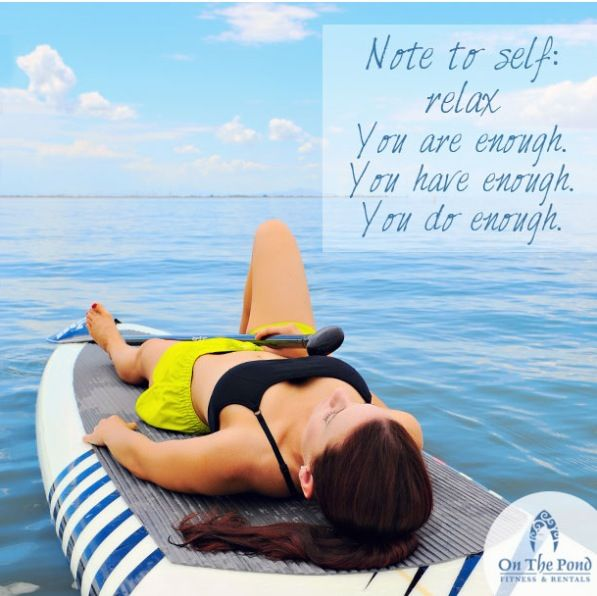 Relax you are enough you have enough on the pond - Housse de coussin 65 65 ...