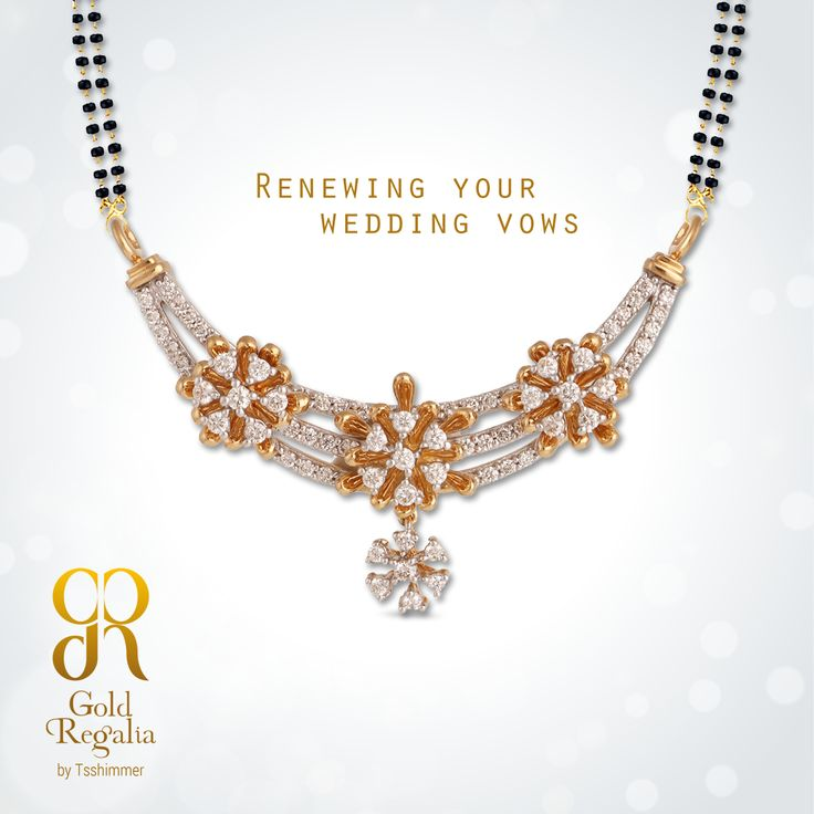 Renewing your wedding vows  :www.goldregalia.com  ‪‪#‎GoldJewellery‬ #Mangalsutra #‎Jewellerycollection‬ #TraditionalJewellery‬