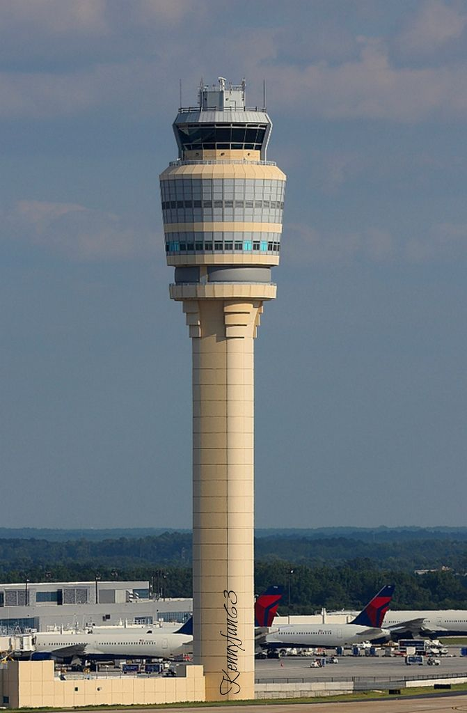 Air Traffic Control Tower @ Heartsfield -Jackson International in Atlanta Georgia
