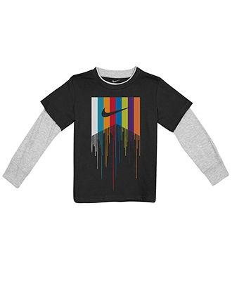Nike Action Kids T-Shirt, Boys Drip Twofers - Kids Boys 8-20 - Macy's