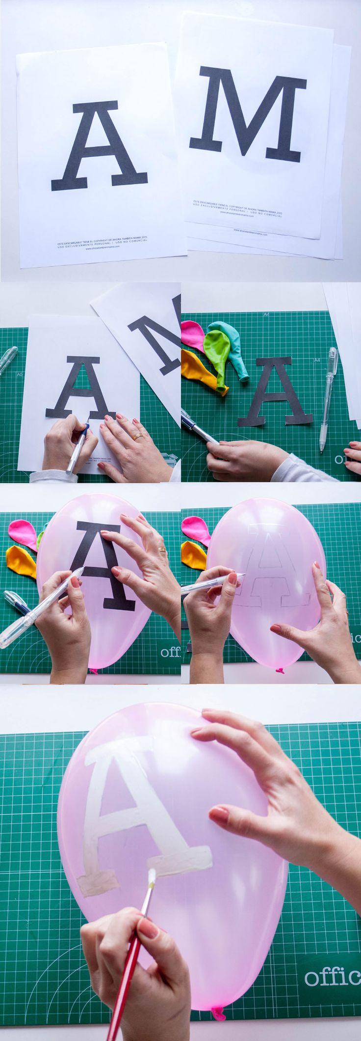 En unos pocos minutos puedes diseñar tus globos con mensaje. En este paso a paso podrás ver lo facilón que puede resultar y va con plantilla gratis!
