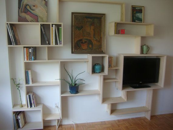 Custom Made Wall Bookcase