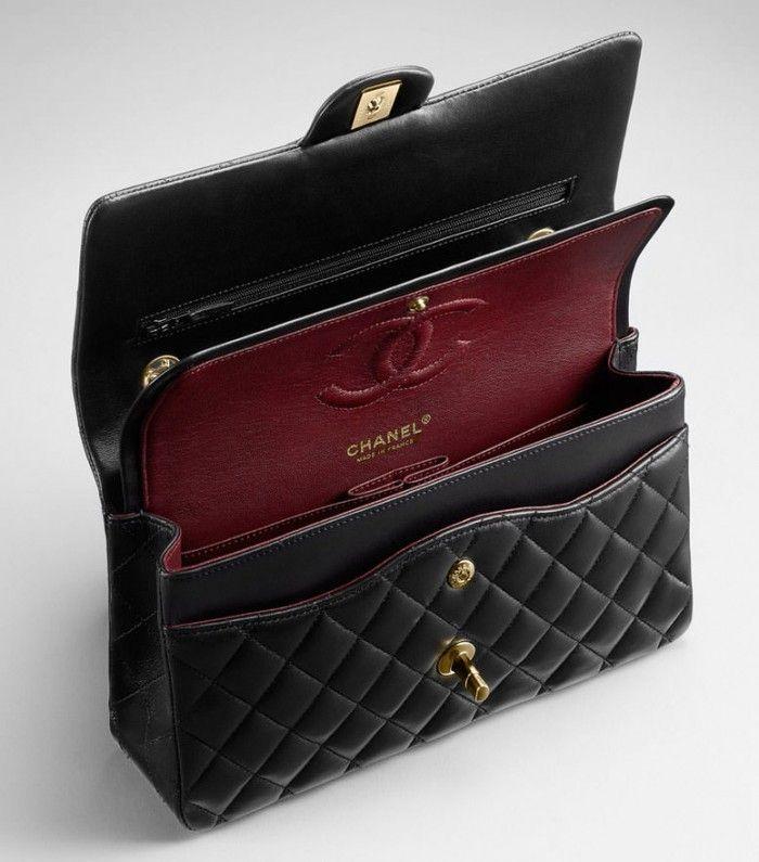 2a17559460cf Chanel Classic-Flap-Bag-Interior-1 | Handbags | Chanel classic flap, Classic  handbags, Bags