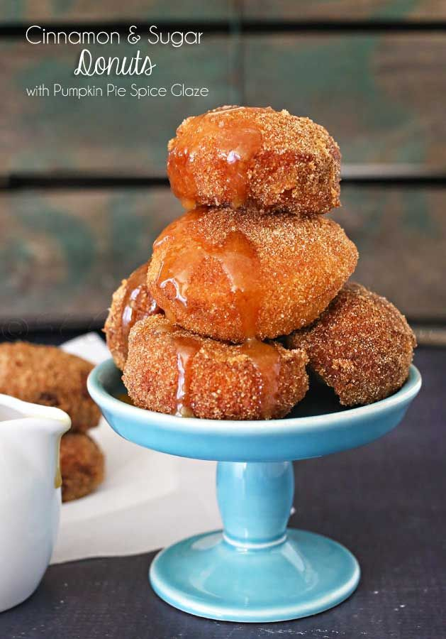 Making homemade donuts like these Cinnamon & Sugar Donuts with Pumpkin Spice Glaze is so easy. What a perfect treat with your coffee on a cool fall morning. on kleinworthco.com #CreateDelight #ad