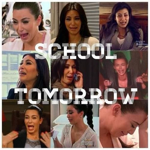 Who knew Kim Kardashian's ugly cry face could so accurately depict how I feel about returning to my job?