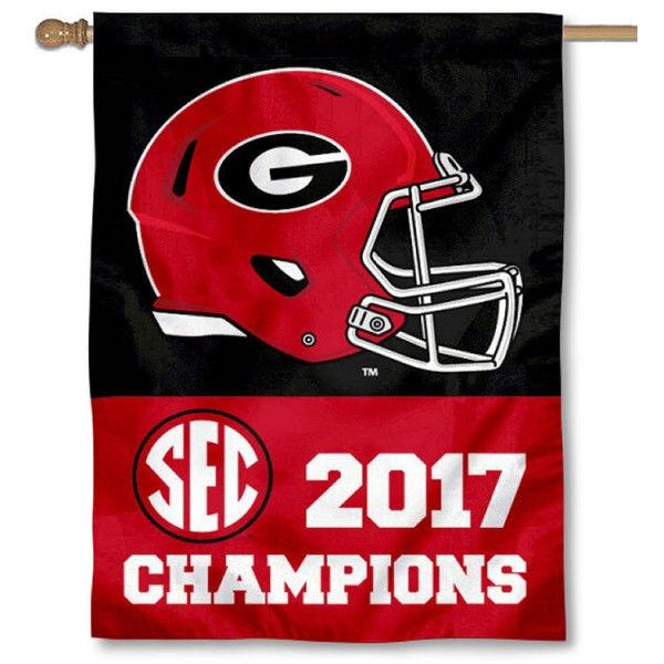 University of Georgia SEC 2017 Football Champs House Flag is double-sided, 30x40 inches in size, constructed of 2 ply polyester, has a top sleeve...