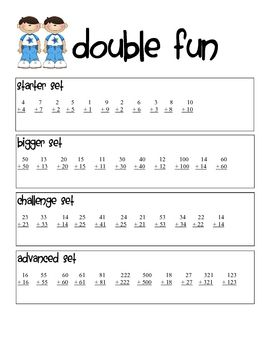 17 best images about classroom math doubles and near doubles on pinterest math doubles. Black Bedroom Furniture Sets. Home Design Ideas