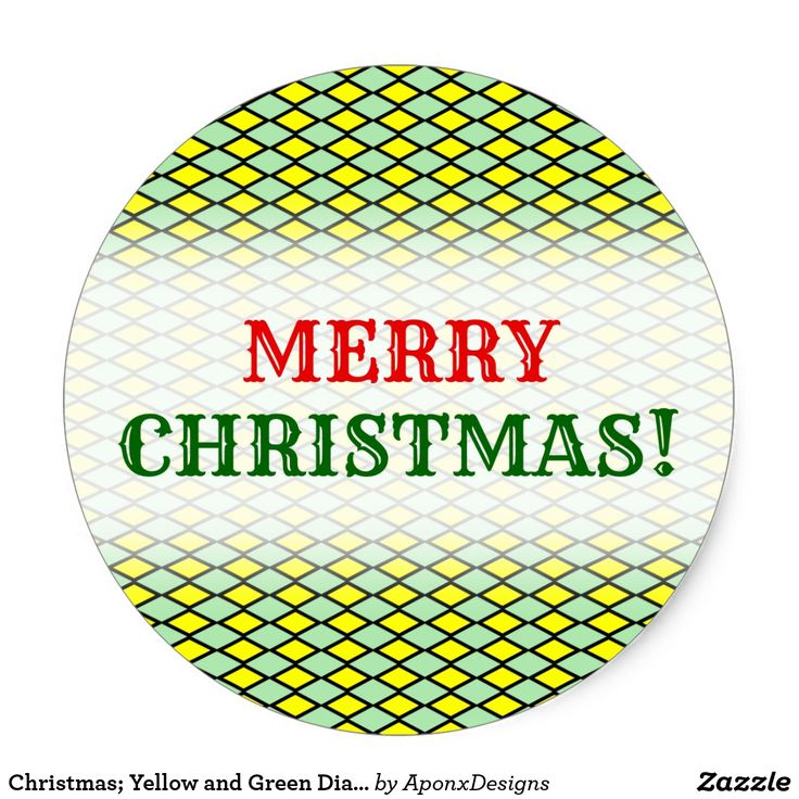 Christmas; Yellow and Green Diamond Shape Pattern
