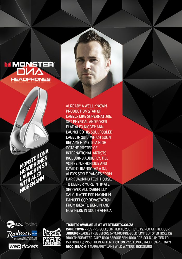 (Win Tickets to the Event, Read post for Details) Monster is launching the brand new DNA headphones in South Africa http://j.mp/Zfqs56