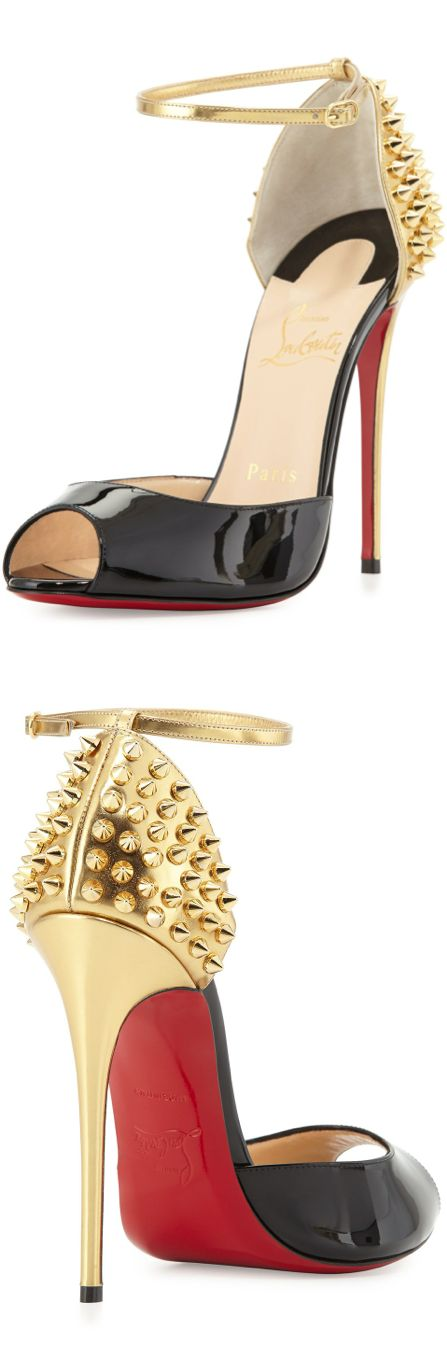 Christian Louboutin Pina Spike Red Sole Sandal