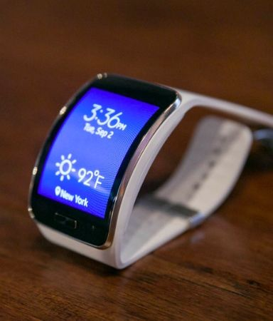 The Samsung Gear smartwatch s-3g,wi-fi and bluetooth connectivity.curved design with customisable straps.doubles as a fitness tracker with enhanced multi-sensors and built in gps.£329.95