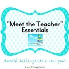 """This item includes all of the essentials you need to make your """"Meet the Teacher"""" night a true success!  Just print and duplicate the pages you nee..."""
