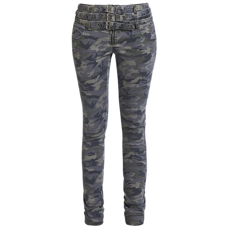 Camo Buckle Pants von Rock Rebel by EMP
