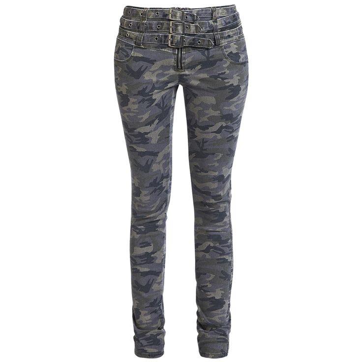Camo Buckle Pants von Rock Rebel by EMP