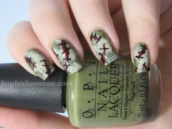 193 best halloween nail art images on pinterest hairstyles halloween nail art zombie flesh check out mynailpolishobsession for more nail prinsesfo Choice Image