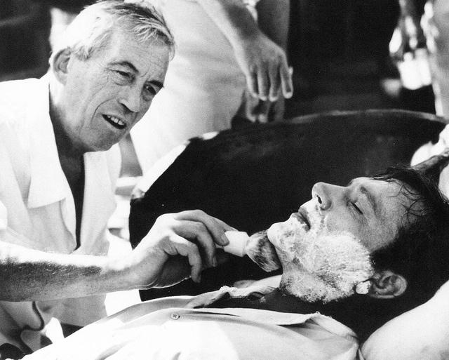 John Huston and Richard Burton by classic film scans, via Flickr