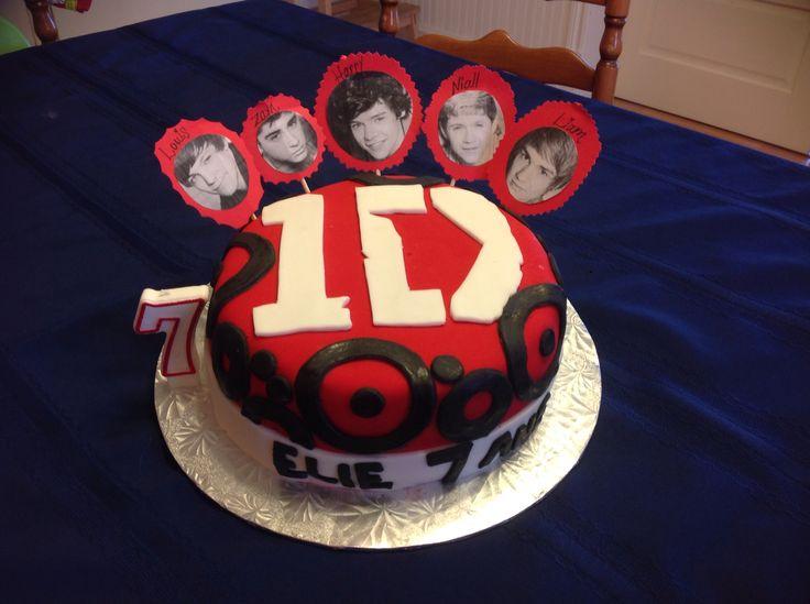 Gâteau One Direction fondant