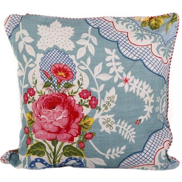 Shabby Chic Blue Pillows : Pip Studio Shabby Chic Large Cushion - Blue (135 CAD) liked on Polyvore featuring home, home ...