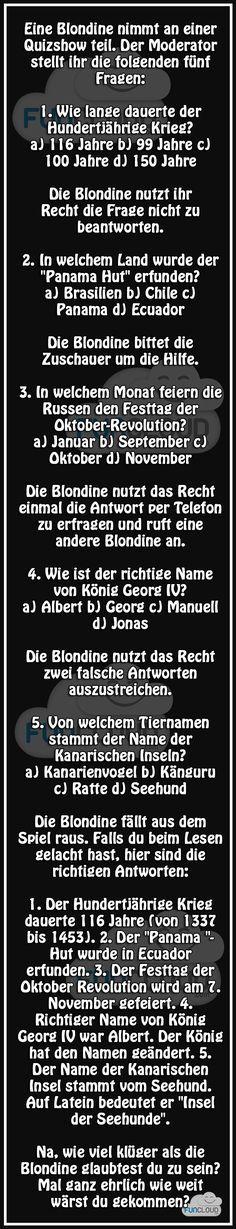 Blondine beim Quiz - Witze des Tages 10.11.2015 | Funcloud