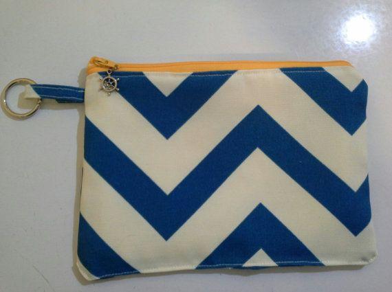Ringlet Nautical Zipper Bag With Ship Steering Wheel by NikiStix, $13.00
