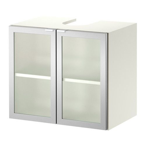 Photo Of LILL NGEN Sink base cabinet with doors white aluminum IKEA Fits under most