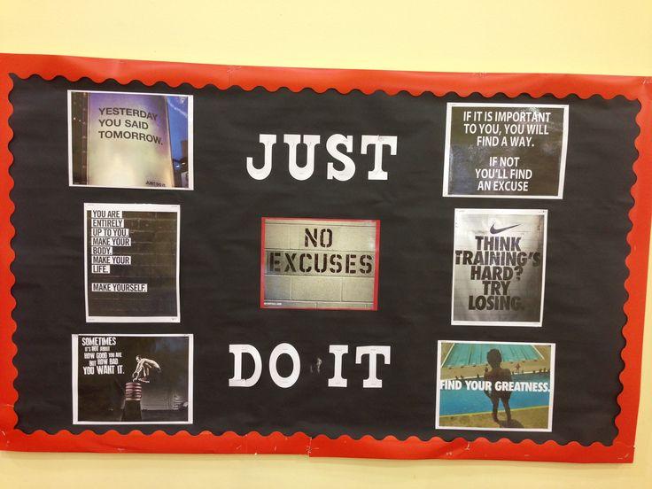 Nike motivation PE bulletin board