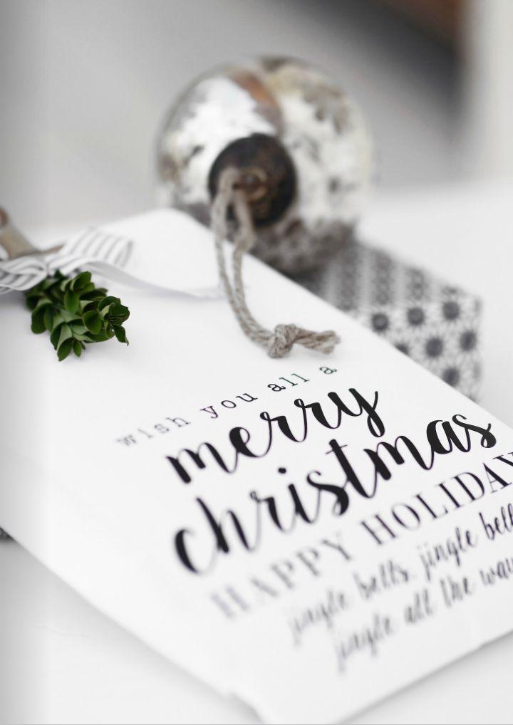 Christmas gift tag//