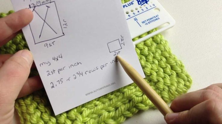 How to Check Knitting Gauge (with closed captions) or measure gauge
