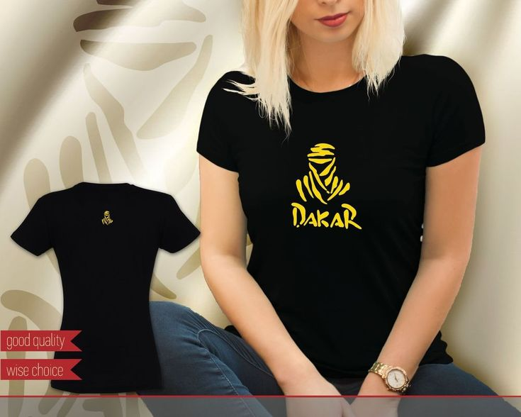 Dakar Rally Motocross Team Black with Yellow Women's T-shirt Tee (DK611) #SOLS #PersonalizedTee