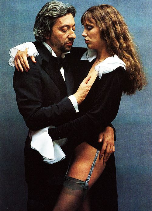 Serge Gainsbourg and Jane Birkin in Paris, 1978. Photo by Helmut Newton