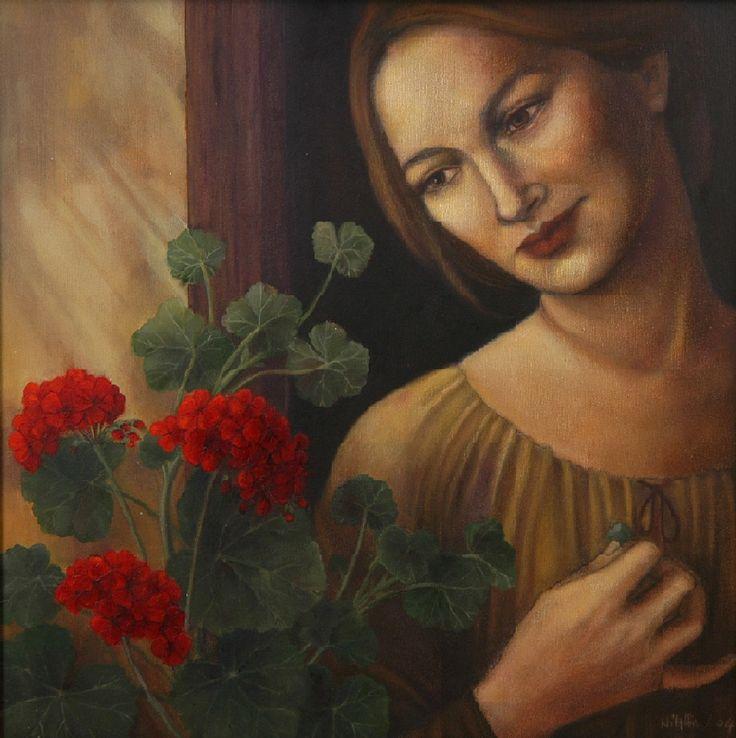 geranium,,oil on canvas