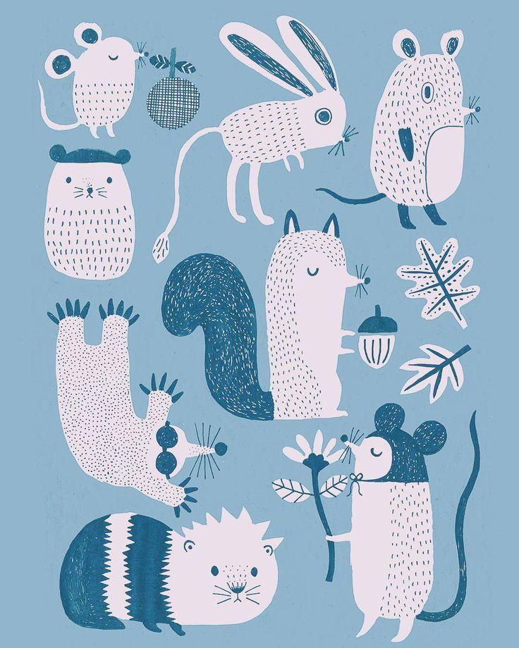 #illustration #mice #jerboa #squirrel #mole #guineapig #fllufy #animals