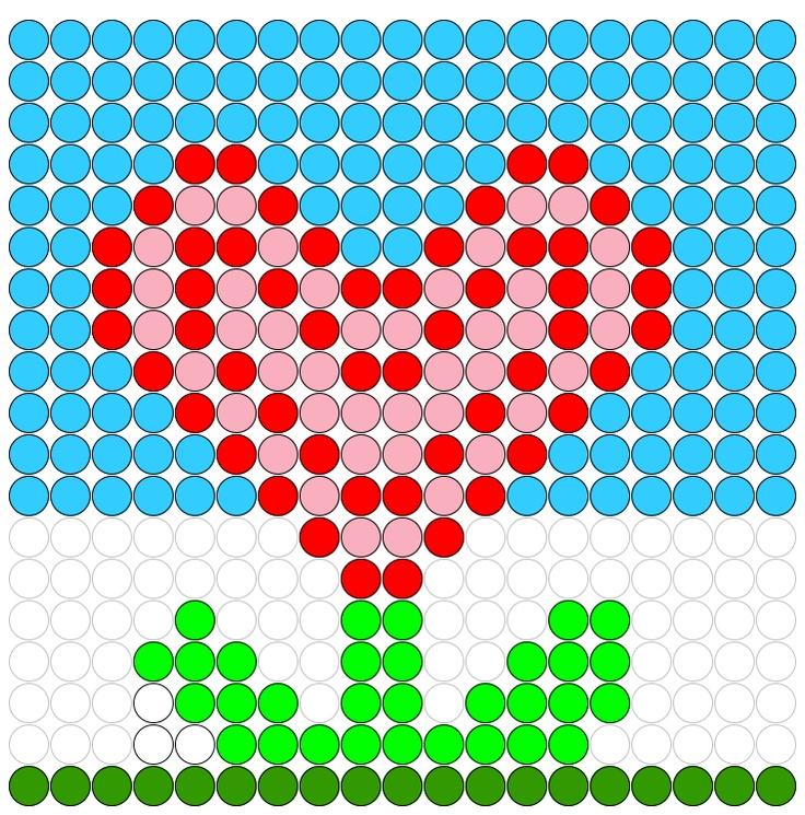 Kralenplank voorbeeld valentijnsdag